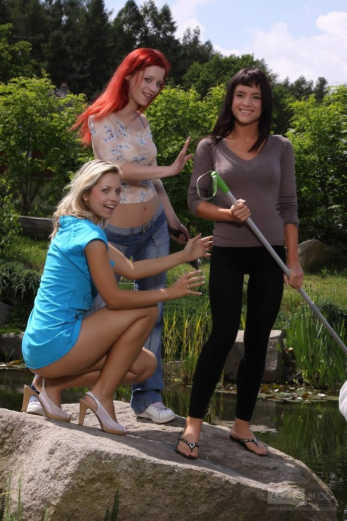 A pescaria de Ariel, Gia e Jenni