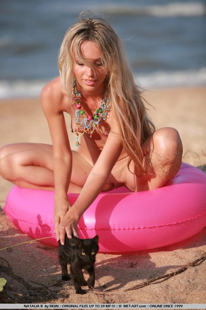 Natalia na praia