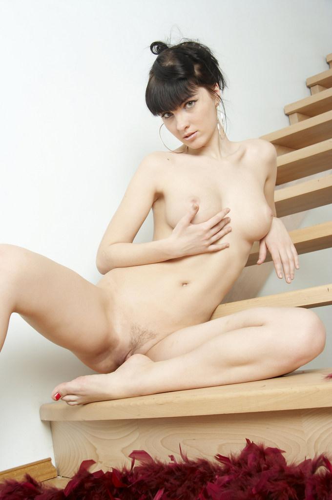 Polina na escada